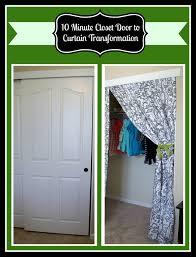 Fixing Sliding Closet Doors 10 Minute Diy Closet Doors To Curtain Project The Best Of