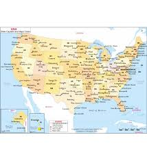 map showing states and capitals of usa usa big cities map major cities in us map united states map