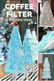 coffee filter christmas trees easy christmas decorations and