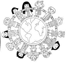 globe world map coloring pages kids aim