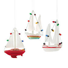 sailboat ornament a 3 c f home