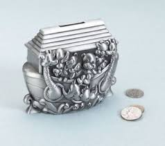 silver piggy bank for baby silver plated noah s ark pewter piggy bank money box bank baby