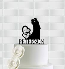 wedding cake topper mr and mrs cake topper with heart military