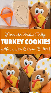 how to make thanksgiving turkey cookies with a simple