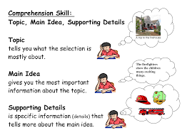main idea and supporting details 3 5ij 3 6gh lessons tes teach
