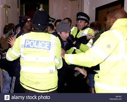 vauxhall luton vauxhall luton protest police stock photo royalty free image