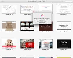 business card template pages mac 5 best u0026 professional templates