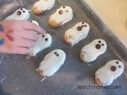 quick and easy halloween ghost cookies teach mama