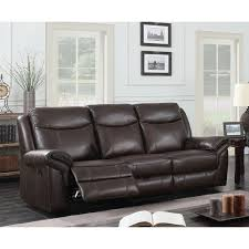 abbyson living bradford faux leather reclining sofa furniture of america jefferson transitional brown leather gel
