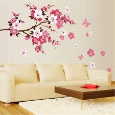 stickers bureau pas cher fleur amovible wall sticker papier peint