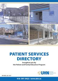 uhn toronto rehabilitation institute patient services directory by