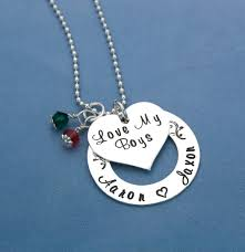 Sterling Silver Personalized Necklaces Love My Kids Sterling Silver Personalized Necklace Jessie
