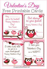 free valentines cards free printable s day cards for kids with owls and birds