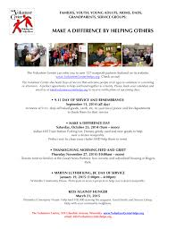 your calendar to make a difference at this year s volunteer