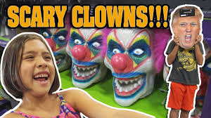facebook spirit halloween scary clowns at spirit halloween store donald trump face off