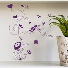 decorations decorative home wall decorations black wall decal full size of purple wall decal tree flower and birds wall sticker love heart art decals