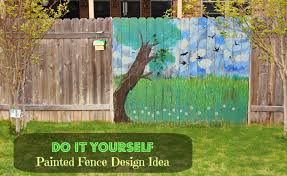 Backyard Fence Decorating Ideas Painted Fence Ideas Backyard Fence Decorating Design Isavea2z