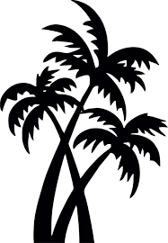 buy mesleep coconut tree design black wall sticker best