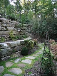 photos hgtv stone garden wall and path idolza