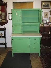 traditional blue retro cabinets and mosaic tile backsplash inside