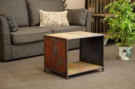 bouts de canapé bout de canapé industriel pour votre salon fabriqué en bois