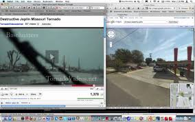 Street View Google Map Joplin Tornado Basehunters Tornadovideos Net Compared To Google
