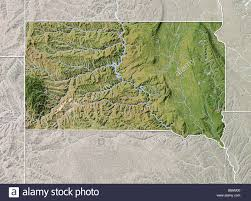 Map South Dakota South Dakota Shaded Relief Map Stock Photo Royalty Free Image