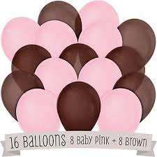 pink and brown baby shower brown and pink baby shower balloons 16 ct