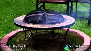 sunnydaze mosaic fire pit with copper accents mrpt101 youtube