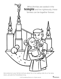 temple sealing best of lds family coloring pages glum me
