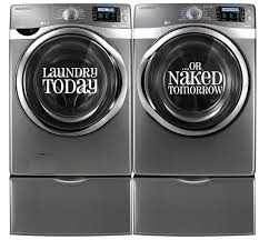 laundry today or tomorrow wall vinyl decal home decor