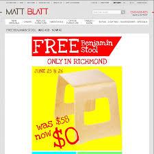 free stool at matt blatt richmond vic value 58 ozbargain