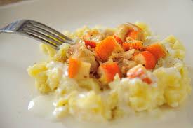 cuisiner le surimi surimi poêlé écrasé de pommes de terre au lait ribot cuisine à l