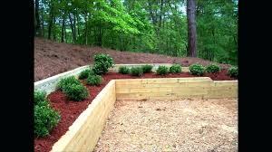 Timber Garden Edging Ideas Using Landscape Timbers For Edging Backyard Landscape Timber