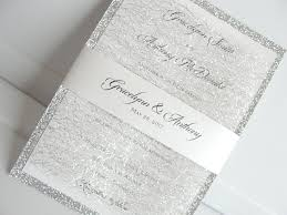 silver wedding invitations lace wedding invites lace wedding invitations