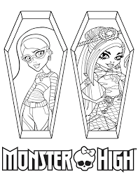 High Characters Coloring Pages Monster High Ghoulia Yelps And Jinafire Long Coloring Page H M by High Characters Coloring Pages