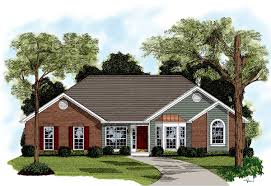 traditional brick ranch home plan 2092ga architectural designs