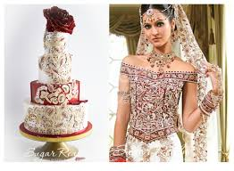 indian wedding cakes cincinnati burgundy ivory and gold