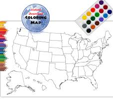 coloring map usa coloring page usa outline plain no