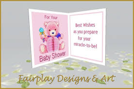 second marketplace fda best wishes baby shower card