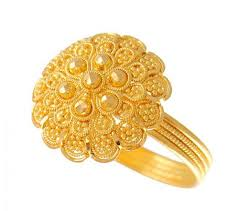 big gold rings images 22k gold filigree ring ajri51055 22k gold fancy ring with big jpg