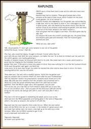 rapunzel esl printable worksheets and exercises