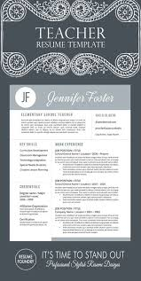 Creative Teacher Resume Templates 58 Best Teacher Resume Templates Images On Pinterest Teacher