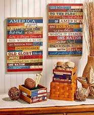 patriotic home decor wooden welcome home décor hanging signs ebay