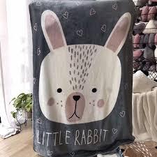 tapis ourson chambre b animaux de bande dessinée lapin ours chien renard motif multi
