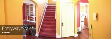 painting the entryway stairs and hallway rather square