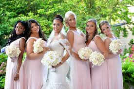 Light Pink Bridesmaid Dresses Bridesmaid Dresses Blush Bridesmaid Gowns From Real Weddings