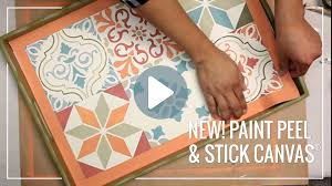 paint peel u0026 stick canvas for stenciling easy diy decor youtube