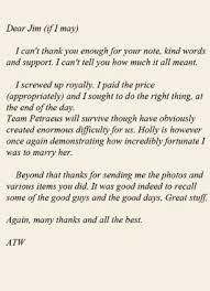 david petraeus the extraordinarily frank letter disgraced