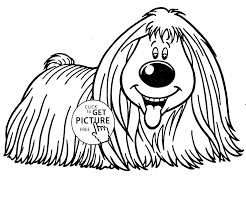 dog smiling coloring page for kids animal coloring pages